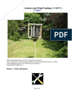 Building a Vertical Axis Wind Turbine