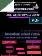 Factores Preporedantes en La Localizacion de Planta