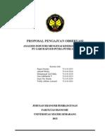 Proposal Observasi Pt Garudafood
