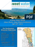 Luncheon Plenary Update on the Efforts of Sweet Water in the Region Jeff Martinka
