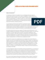 La planificación pública como instrumento de transformación del Estado