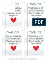 Take Note Printable created by Made by Cristina Marie