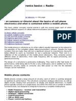 Cell Phone Electronics Basics