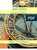 Business Analysis Book by Arvind Mehta