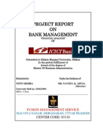 Analysis of Financial Manatement in Icici Bank