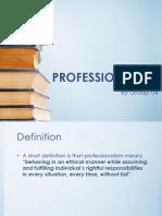 Professionalism for nurses