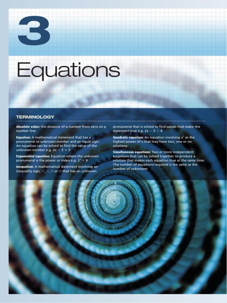 Maths in Focus - Margaret Grove - ch3 | Inequality (Mathematics ...