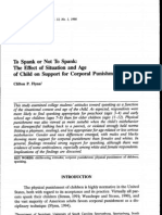 To Spank or Not to Spank - The Effect of Situation and Age of Child on Support for Corporal Punishment