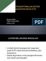Analisis Pengoptimalan Sistem Pembangkitan Pada Pltp