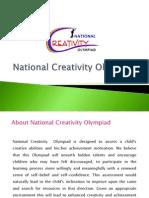 National Creativity Olympiad 2013