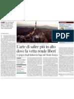 Il senso della scalata come sopravvivenza in «Point Lenana», nuovo libro di Wu Ming 1 - Il Corriere della Sera - 04.05.2013