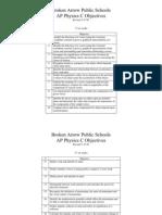 APPhysicsC Objectives
