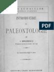 Introducere în paleontologie - Simionescu