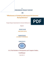 Final Project on effectiveness of celebrity endorsement on consumer Behaviour.