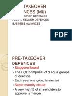 Anti Takeover Defences(Mu)