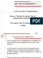 CHI SQUARE TEST FOR INDEPENDECE