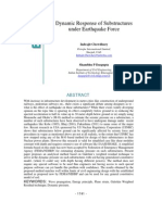 Dynamic Response of Substructures Under Earthquake Force Ppr12.145elr