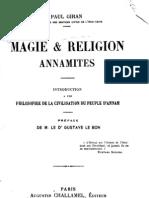 Magie Et Religion Annamites - Paul Giran (1912)