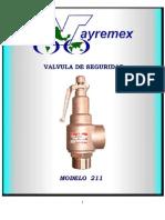 Valvula de Alivio Vayremex