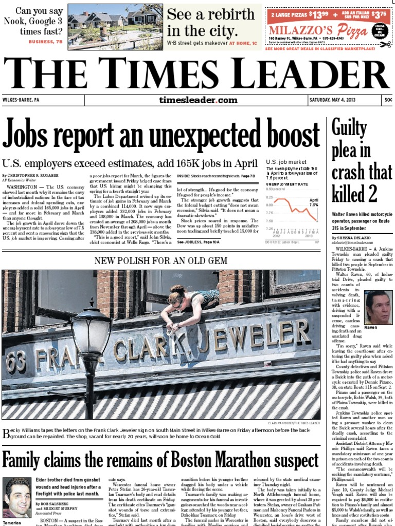 Times Leader 05-04-2013 | Wilkes Barre | The United States