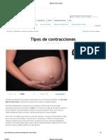 Gineco-Obstetricia - Tipos de Contracciones