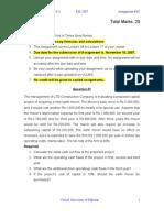 Corporate Finance - FIN622 Fall 2007 Assignment 03