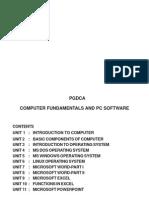 Computer Fundamentals & PC Sosftware-Title