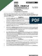 Unit Test f1 Maths Ut 2