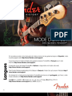 Fender BassGuitars Manual (2011) French