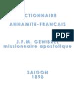 Dictionnaire Annamite-Français de Génibrel (1898)