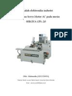 Penggunaan Servo Motor AC Pada Mesin SHIGIYA GPS-20