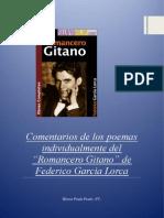Comentarios Individuales de Poemas Del Romancero Gitano de Lorca