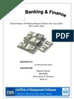 Monetary Policy of pakistan