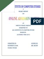Online Admission Documentation