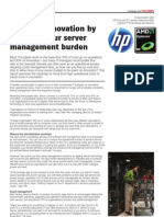 Invest in innovation by reducing server mgt burden