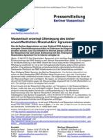 Pressemitteilung vom Berliner Wassertisch vom 4. Mai 2013