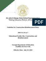 7. Guideline for Construction Reimbursement Rates 07-05-11