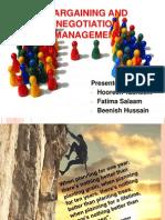bargaining and negotiation management