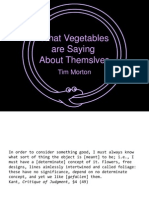 What Vegetables Are Saying about Themselves