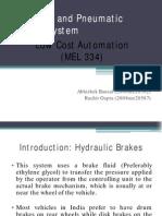 Hydraulic Pneumatic Brakes