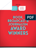 2013 James Beard Book, Broadcast, and Journalism Winners