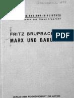 Marx Und Bakunin