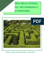 I Labirinti nella storia, nell'arte, nei giardini  e nella letteratura