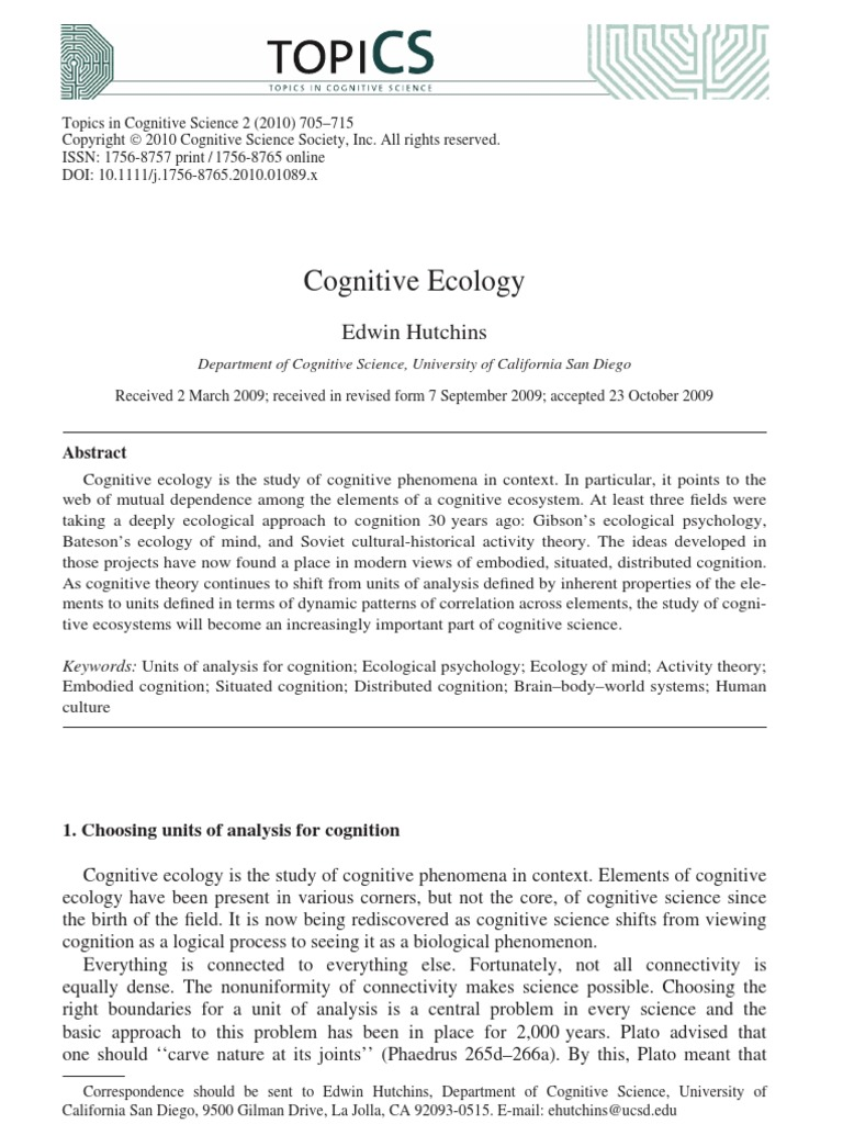 hutchins distributed cognition