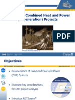 RETScreen Combined Heat and Power Cogeneration