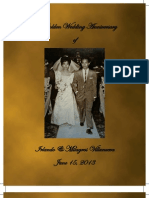 The Golden Wedding Invitation