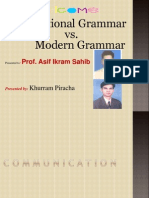 Traditional vs Modern Grammar