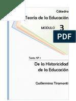 1242031731.01 - Tiramonti - De la historicidad de la educación.pdf