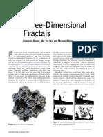 Three-Dimensional Fractals