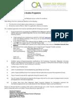 Application for Graduate Admission MBA UUM